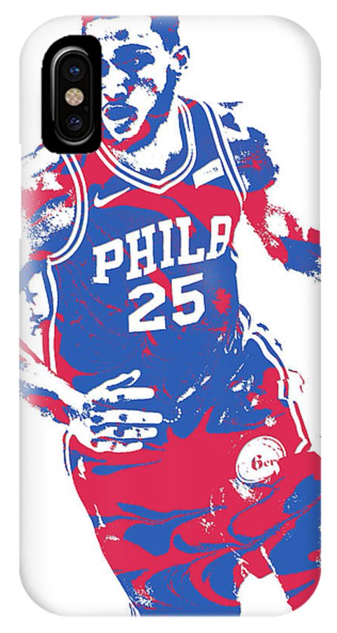 faa82f50a0b Ben Simmons IPhone X Case featuring the mixed media Ben Simmons  Philadelphia Sixers Pixel Art 3