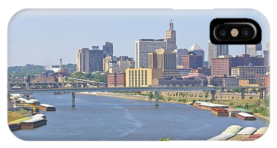 St Paul IPhone X Case featuring the photograph Bend In The River by Tom Reynen
