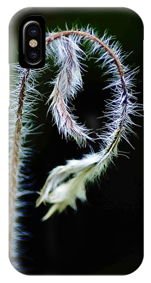 Flowers IPhone X Case featuring the photograph Bending by Ben Upham III