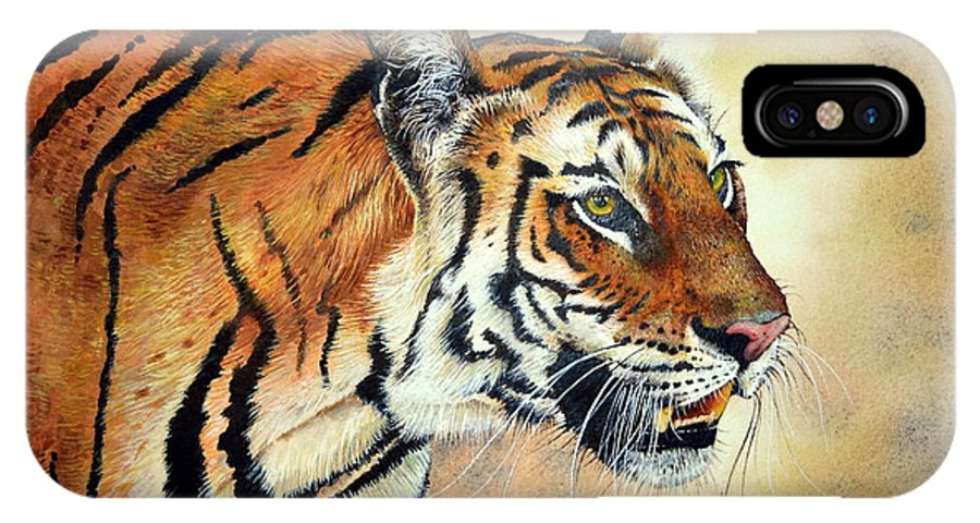 Bengal Tiger IPhone X Case featuring the painting Bengal Tiger by Paul Dene Marlor
