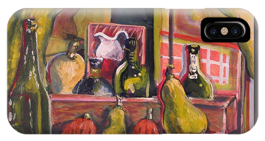 Still Life IPhone X Case featuring the painting Before And After Dinner by Dennis Tawes