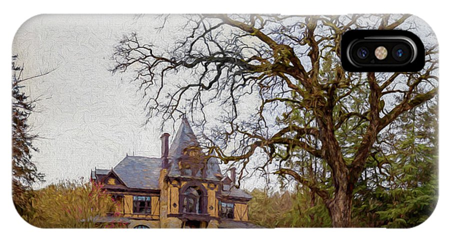 Bringer Winery IPhone X Case featuring the painting Beringer Winery Napa by Mike Penney