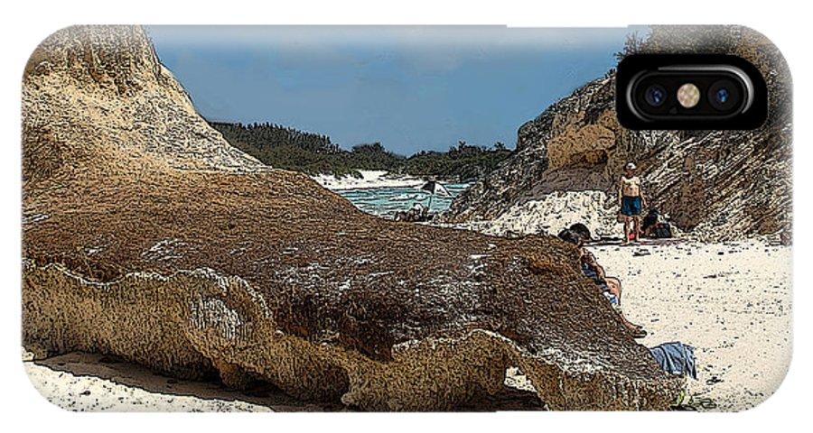 Bermuda IPhone X Case featuring the photograph Bermuda Path To The Sea by Ian MacDonald