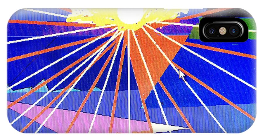 Sunset IPhone Case featuring the digital art Bermuda Sunset by Ian MacDonald