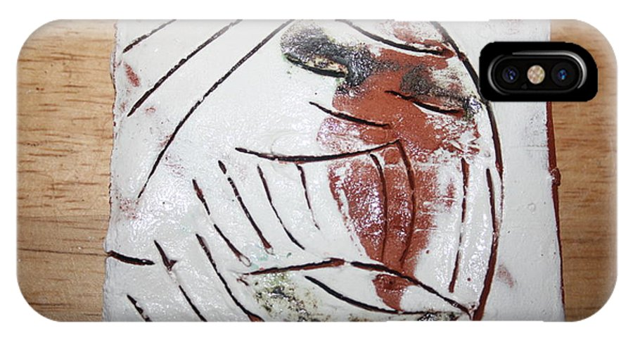 Jesus IPhone X Case featuring the ceramic art Bertha - Tile by Gloria Ssali
