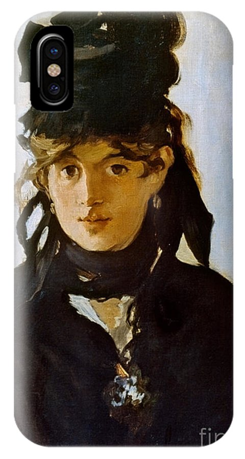 1872 IPhone X Case featuring the photograph Berthe Morisot (1841-1895) by Granger