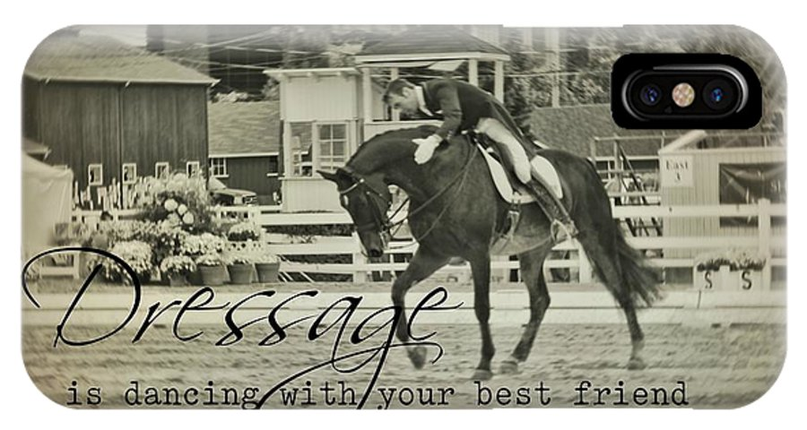 Horse IPhone X Case featuring the photograph Best Friend Quote by JAMART Photography