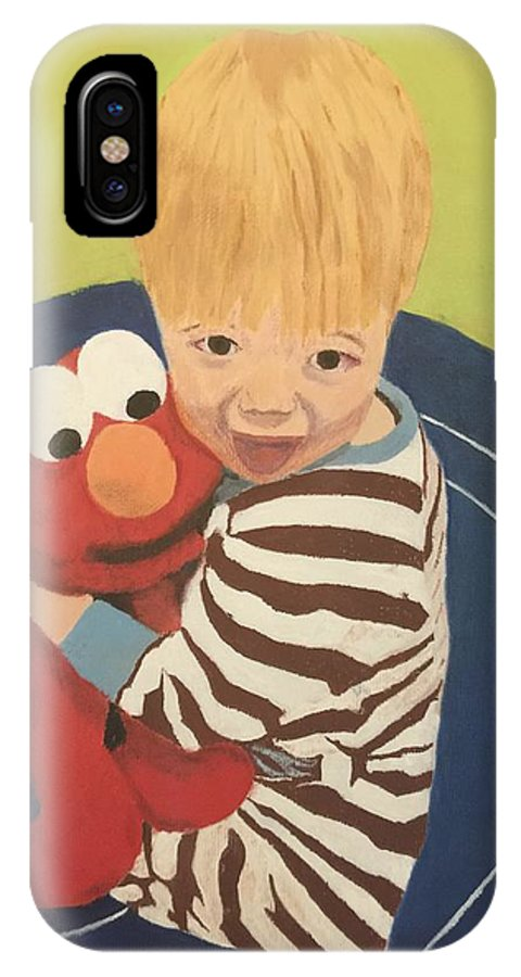 Grandchild IPhone X Case featuring the painting Best Friends by Jonathan Blair