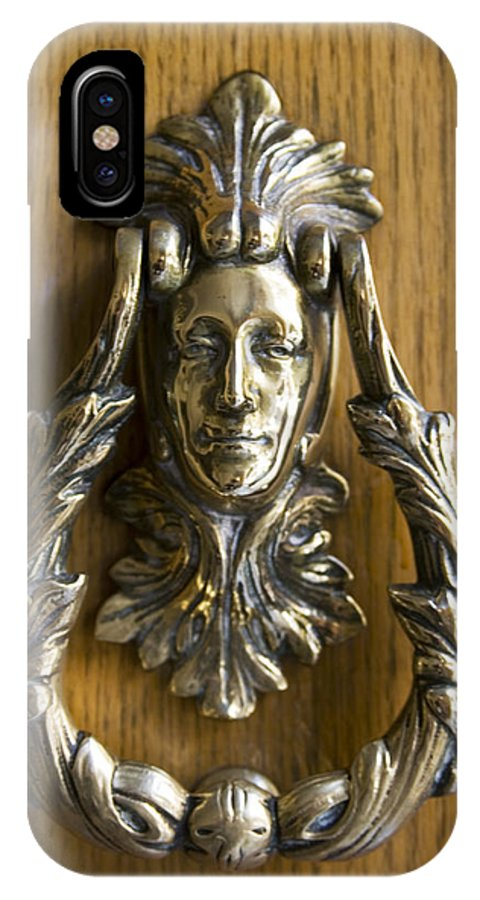 Brass IPhone X Case featuring the photograph Best Knocker In Santiago by Carl Purcell