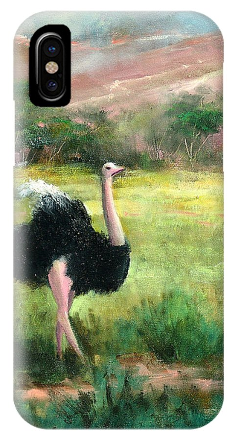 Jungle IPhone X Case featuring the painting Best Legs In Ngoro by Sally Seago