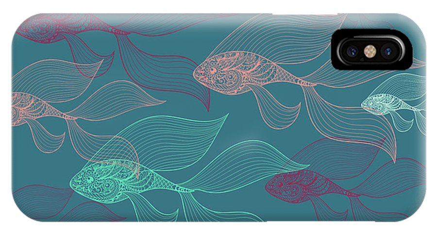 Dolphins IPhone X Case featuring the photograph Beta Fish by Mark Ashkenazi