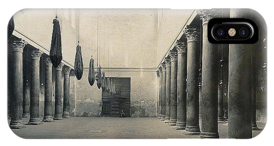 Bethlehem IPhone X Case featuring the photograph Bethlehem - Nativity Church Year 1867 by Munir Alawi