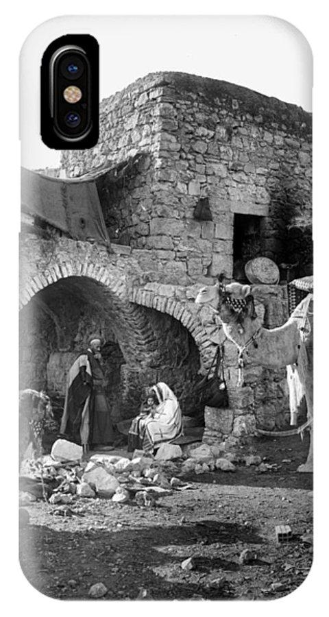 Nativity IPhone X Case featuring the photograph Bethlehem - Nativity Scene Year 1900 by Munir Alawi