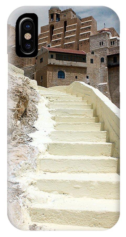 Bethlehem IPhone X Case featuring the photograph Bethlehem - The Way To Mar Saba Monstary by Munir Alawi