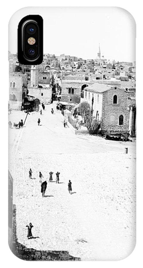 Bethlehem IPhone X Case featuring the photograph Bethlehem 1889s by Munir Alawi