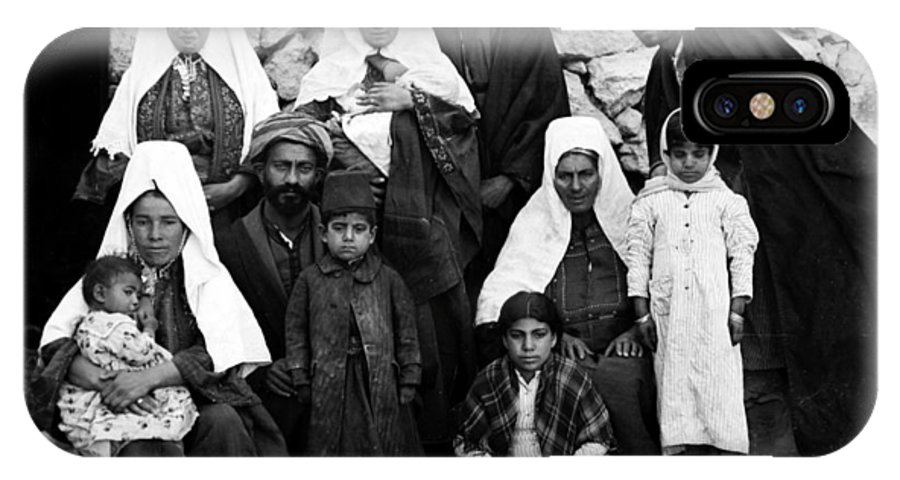 Bethlehem IPhone X Case featuring the photograph Bethlehem Family In 1900s by Munir Alawi