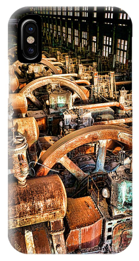 Bethlehem IPhone X Case featuring the photograph Bethlehem Steel Blower House by Olivier Le Queinec