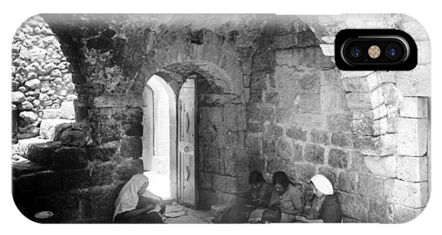 Bethlehem IPhone X Case featuring the photograph Bethlehemites Women Working Year 1925 by Munir Alawi
