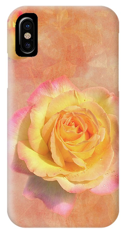 Rose IPhone X Case featuring the photograph Betsy's Roses by Lorraine Baum