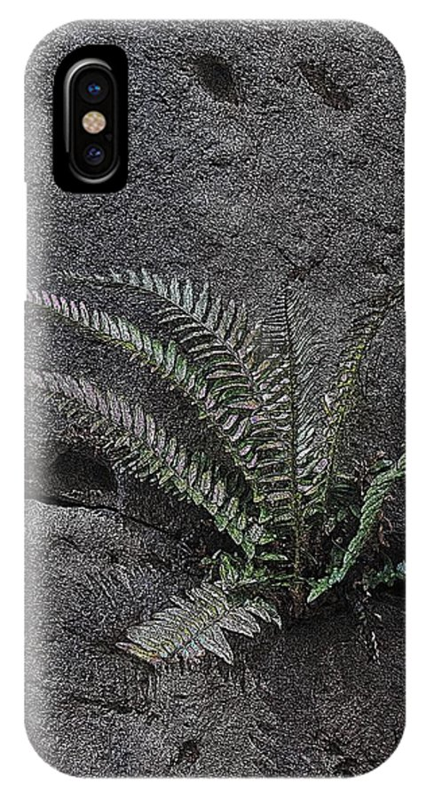 Rock IPhone X Case featuring the digital art Between A Rock And A Hard Place by Tim Allen