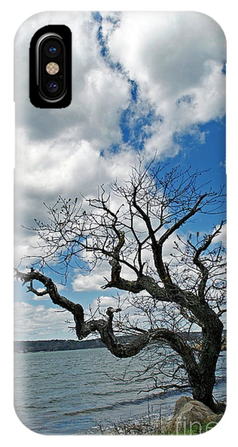 Scenic Tours IPhone X Case featuring the photograph Between A Rock And A Wet Spot by Skip Willits