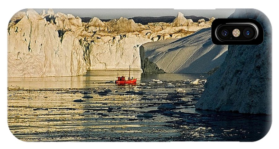 Greenland IPhone X Case featuring the photograph Between Icebergs - Greenland by Juergen Weiss
