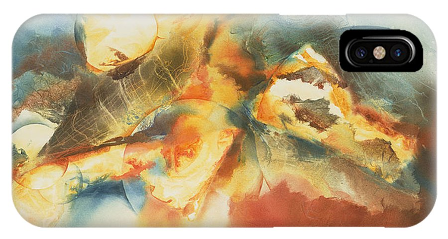 IPhone X Case featuring the painting Between The Worlds by Tara Moorman