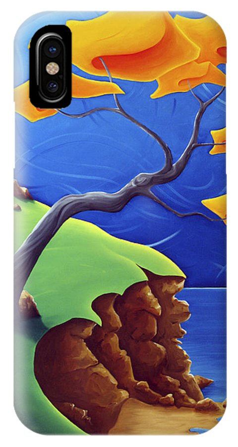 Landscape IPhone X Case featuring the painting Beyond Limitations by Richard Hoedl