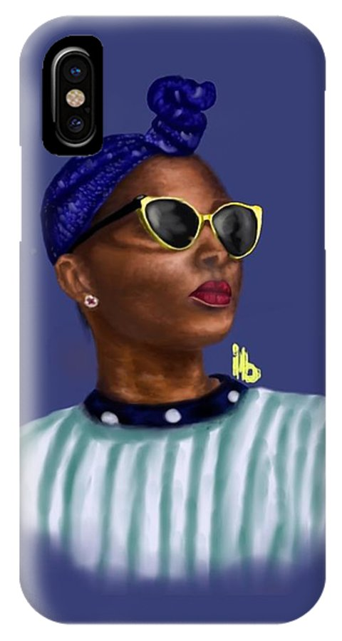 Beyound Is A Work Done In The Portrait Format IPhone X Case featuring the digital art Beyound by Hubert Appiah