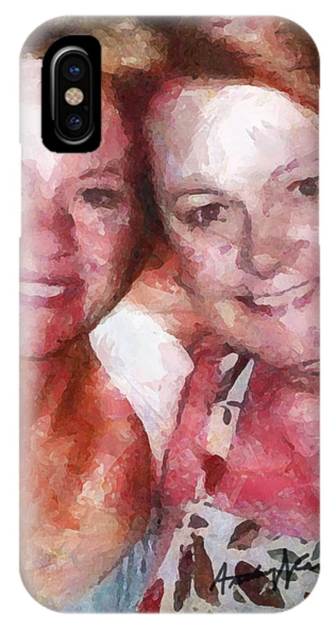 Bff IPhone X Case featuring the painting BFF by Anthony Caruso
