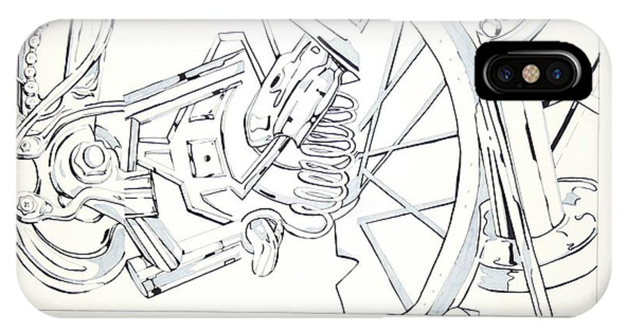 Bicycle IPhone Case featuring the drawing Bicycle by Maryn Crawford