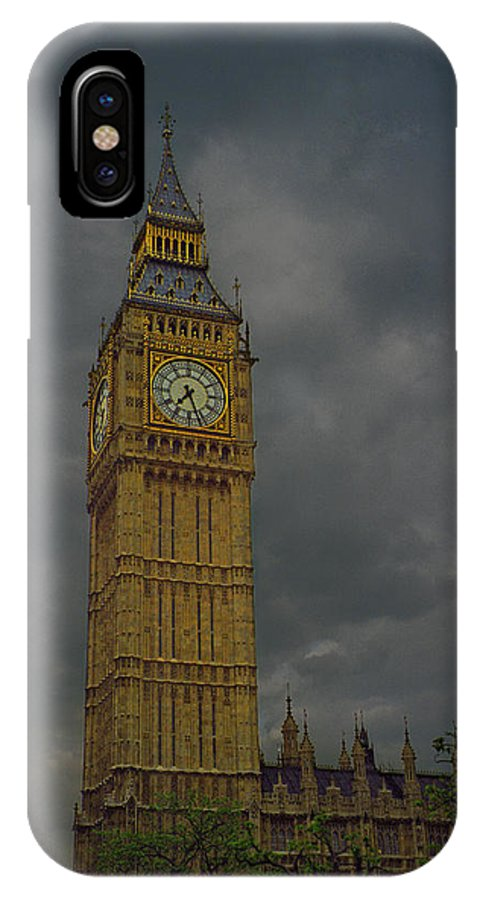Urban IPhone X Case featuring the photograph Big Ben During Storm by Dave Sribnik