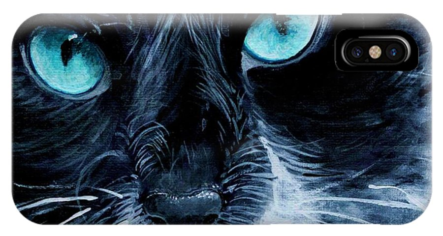 Charity IPhone Case featuring the painting Big Blue by Mary-Lee Sanders