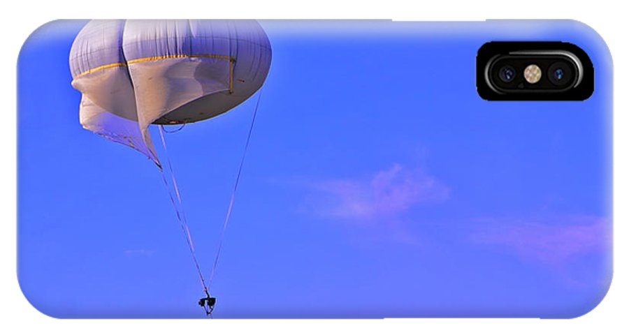 Parachute IPhone X / XS Case featuring the photograph Big Brother's Parachute by Madeline Ellis