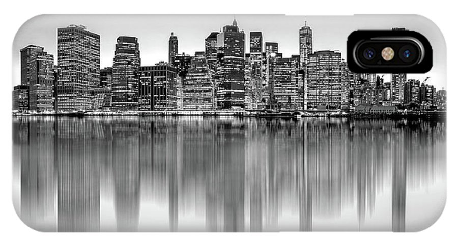 One World Trade Center IPhone X Case featuring the photograph Big City Reflections by Az Jackson