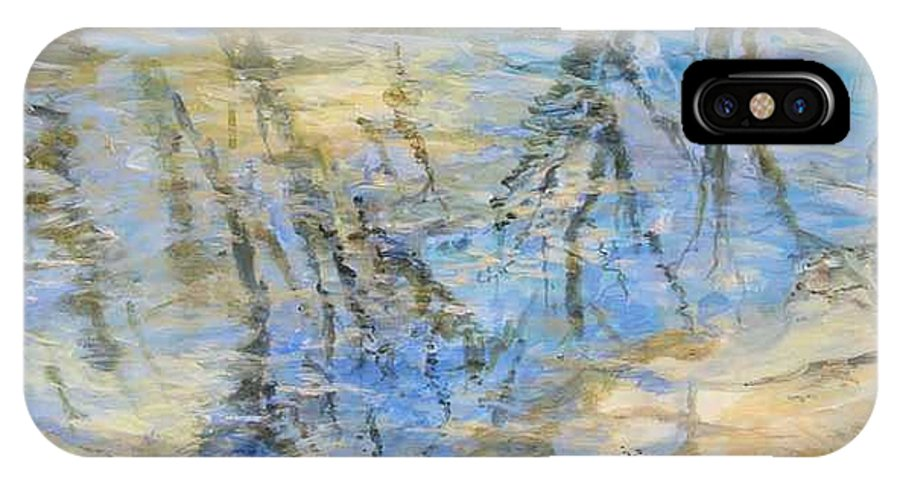 Water IPhone X Case featuring the painting Big Creek by Denise Ivey Telep
