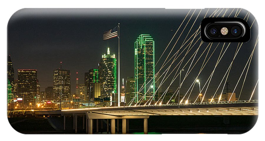 Dallas IPhone X Case featuring the photograph Big D Reflections by Dan Leffel