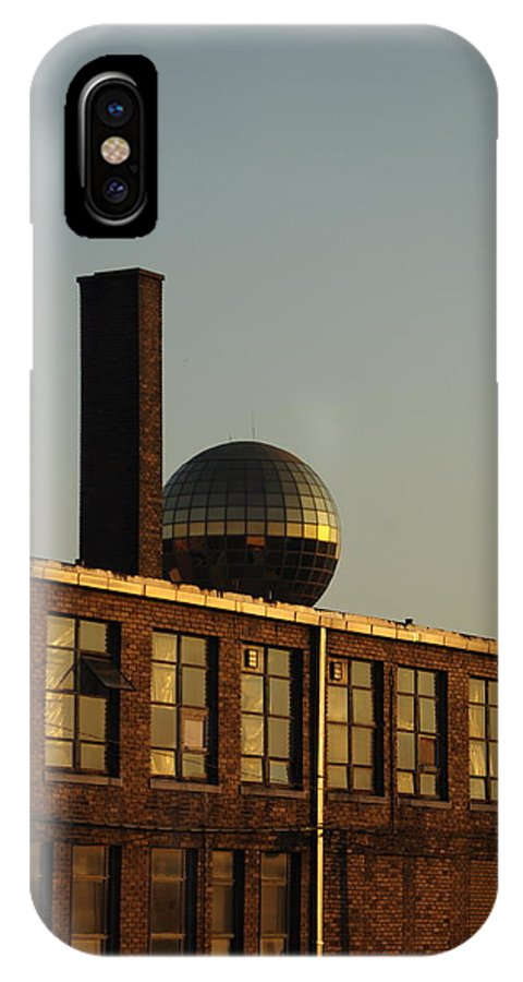 Knoxville IPhone X Case featuring the photograph Big Gold Ball by Carmen Hooven