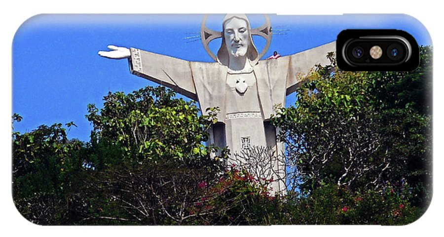 Phu My IPhone X Case featuring the photograph Big Jesus 1 by Ron Kandt