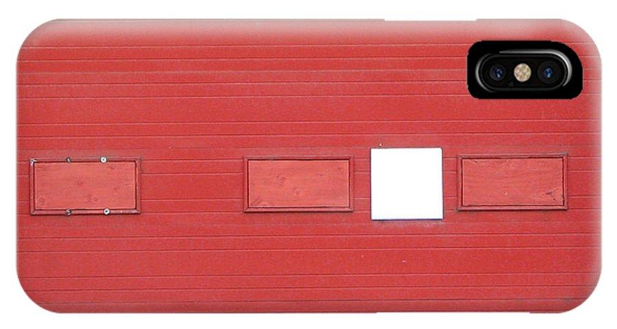 Door IPhone X Case featuring the photograph Big Red Door With Accent by Ben Freeman