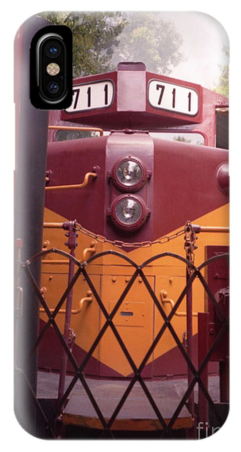 Trains IPhone X Case featuring the photograph Big Red by Richard Rizzo