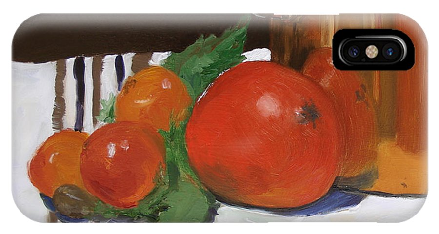 Still Life IPhone Case featuring the painting Big Red Tomato by Barbara Andolsek