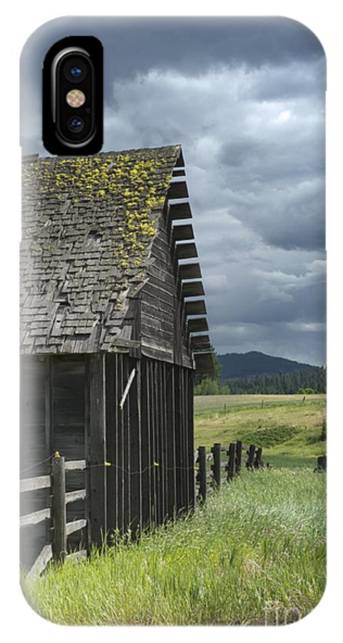 Big Sky IPhone X Case featuring the photograph Big Sky Cabin by Sandra Bronstein