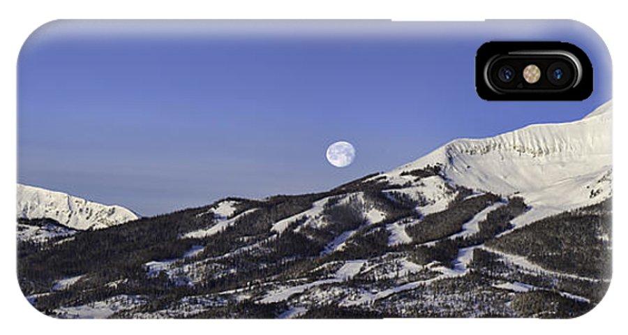 Panorama IPhone X / XS Case featuring the photograph Big Sky Panorama by Mark Harrington