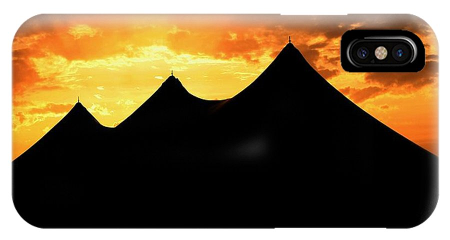 Big Top IPhone X Case featuring the photograph Big Top Sunset by Charlene Cox