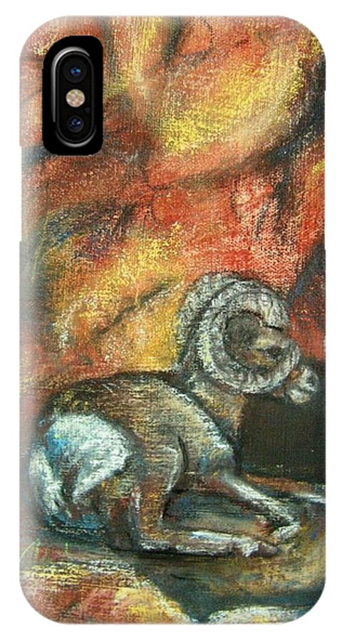 Wildlife IPhone Case featuring the painting Bighorn by Darla Joy Johnson