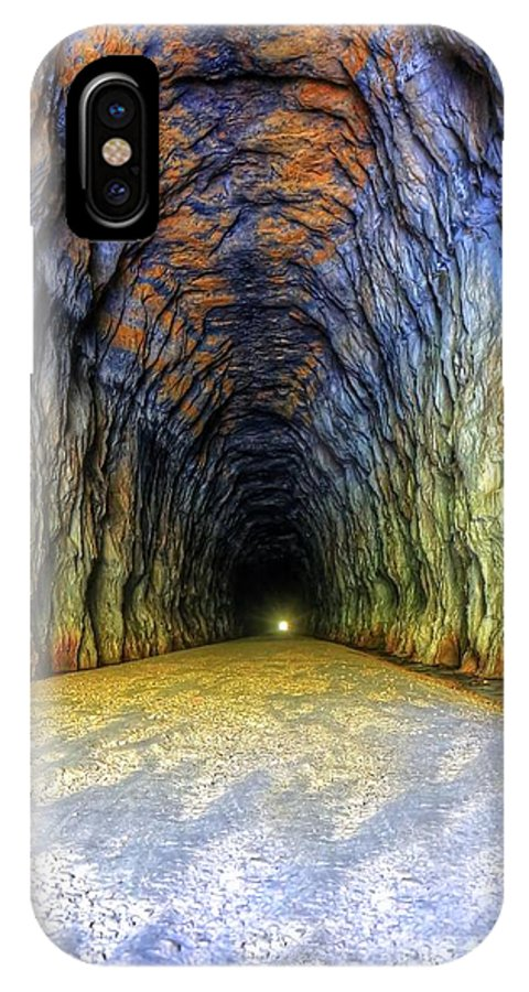 Elroy Sparta Trail IPhone X Case featuring the photograph Bike Tunnel by Bryan Benson
