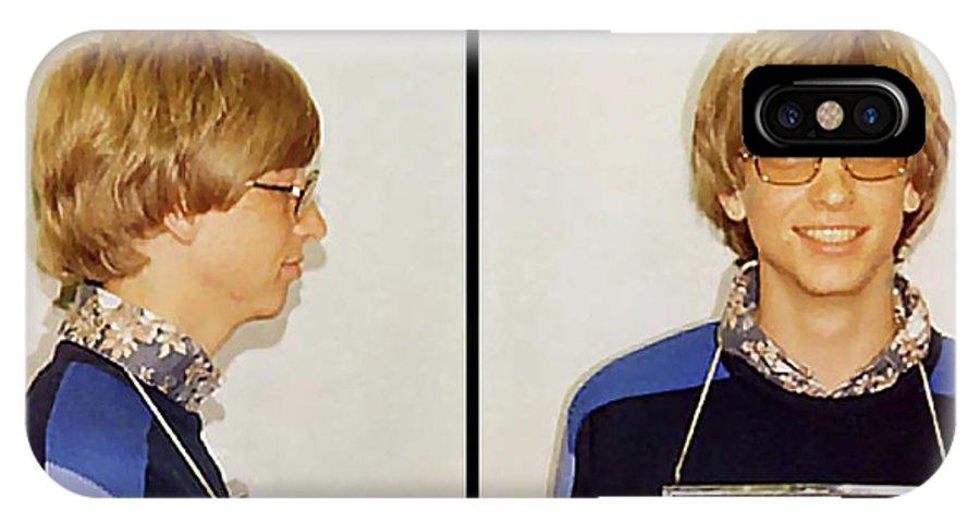bill Gates IPhone X / XS Case featuring the digital art Bill Gates Post Impressionist Mugshot by Daniel Hagerman