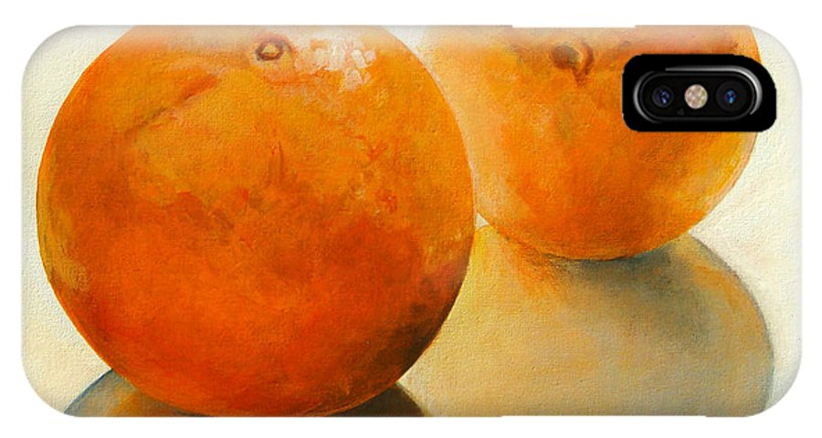 Still Life IPhone Case featuring the painting Billes Oranges by Muriel Dolemieux