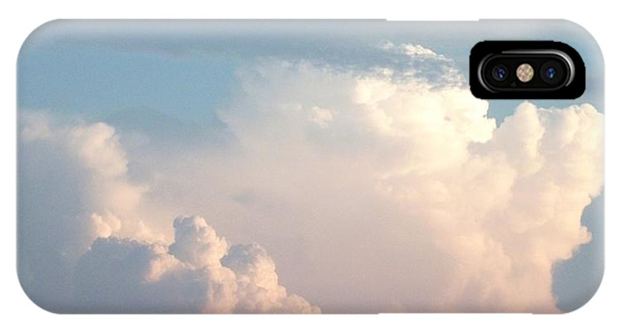 Clouds IPhone X Case featuring the photograph Billows 2 by Peggy King